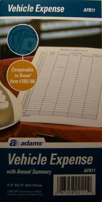 car mileage log book